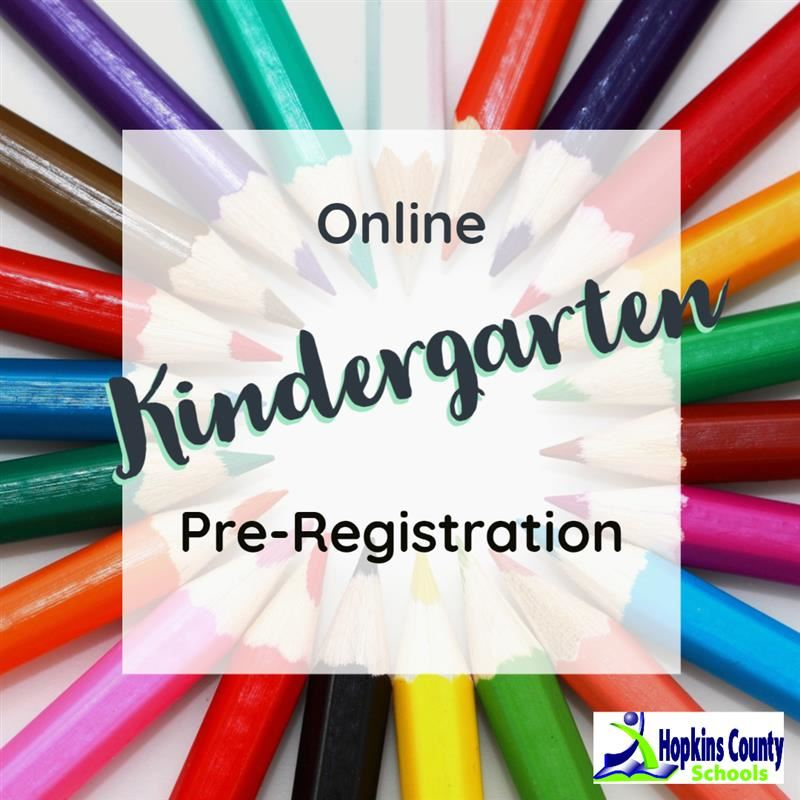 Kindergarten Pre-registration with colored pencils