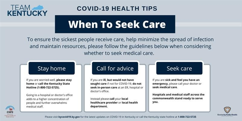 When to Seek Care Graphic