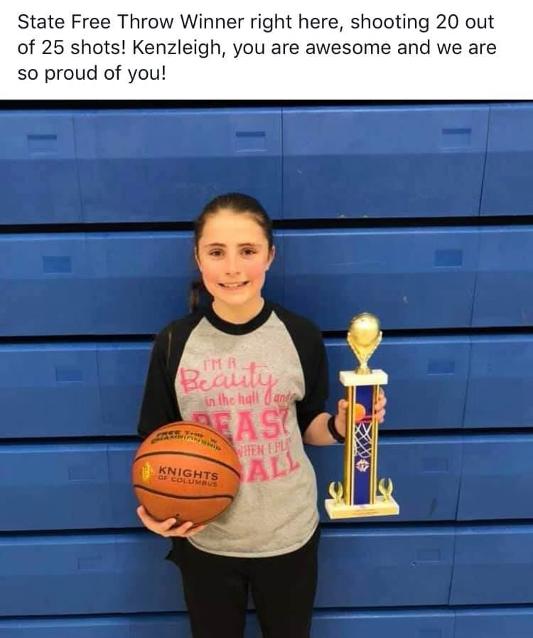 Way to go, Kenzleigh!