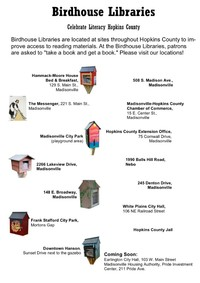 Birdhouse Library Locations