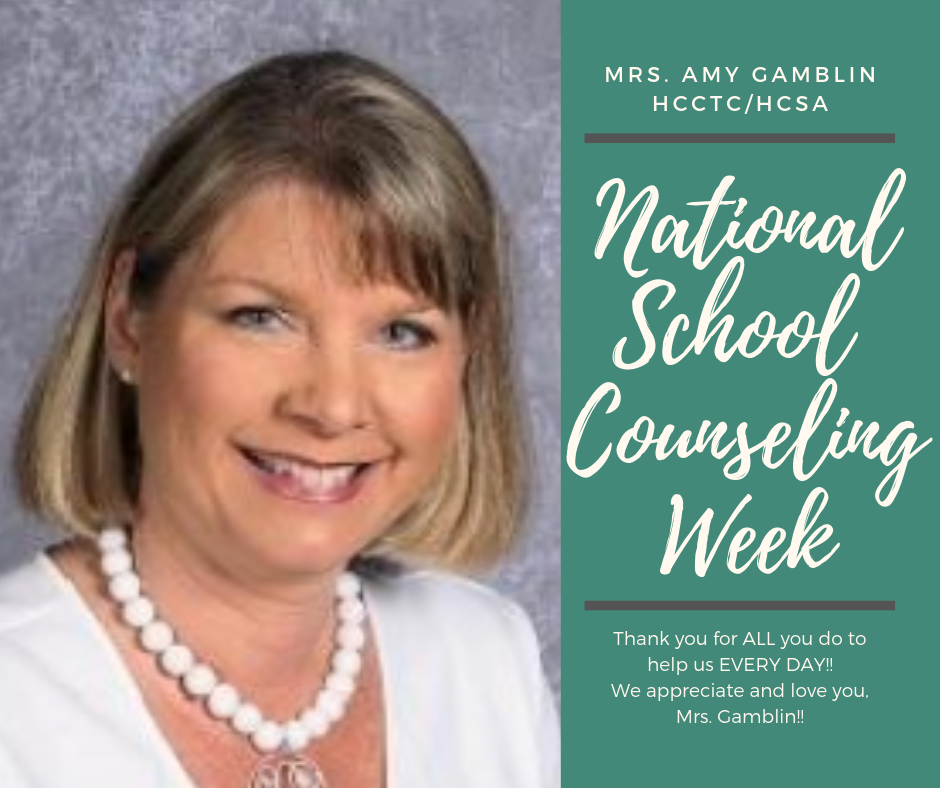 National School Counseling Week - Amy Gamblin