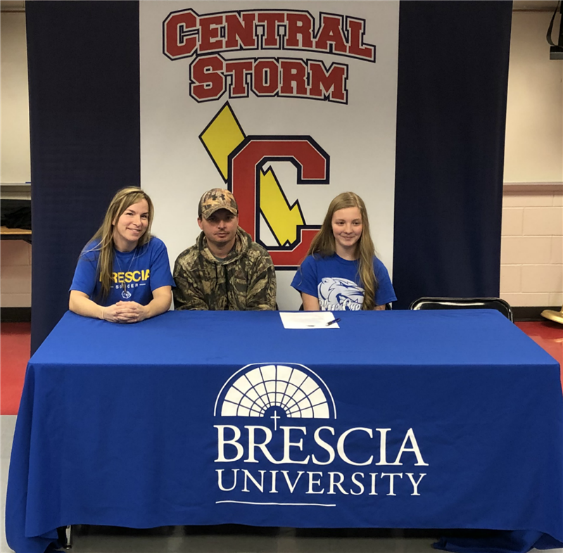 Chloe Dugger signs to play soccer at Brescia.