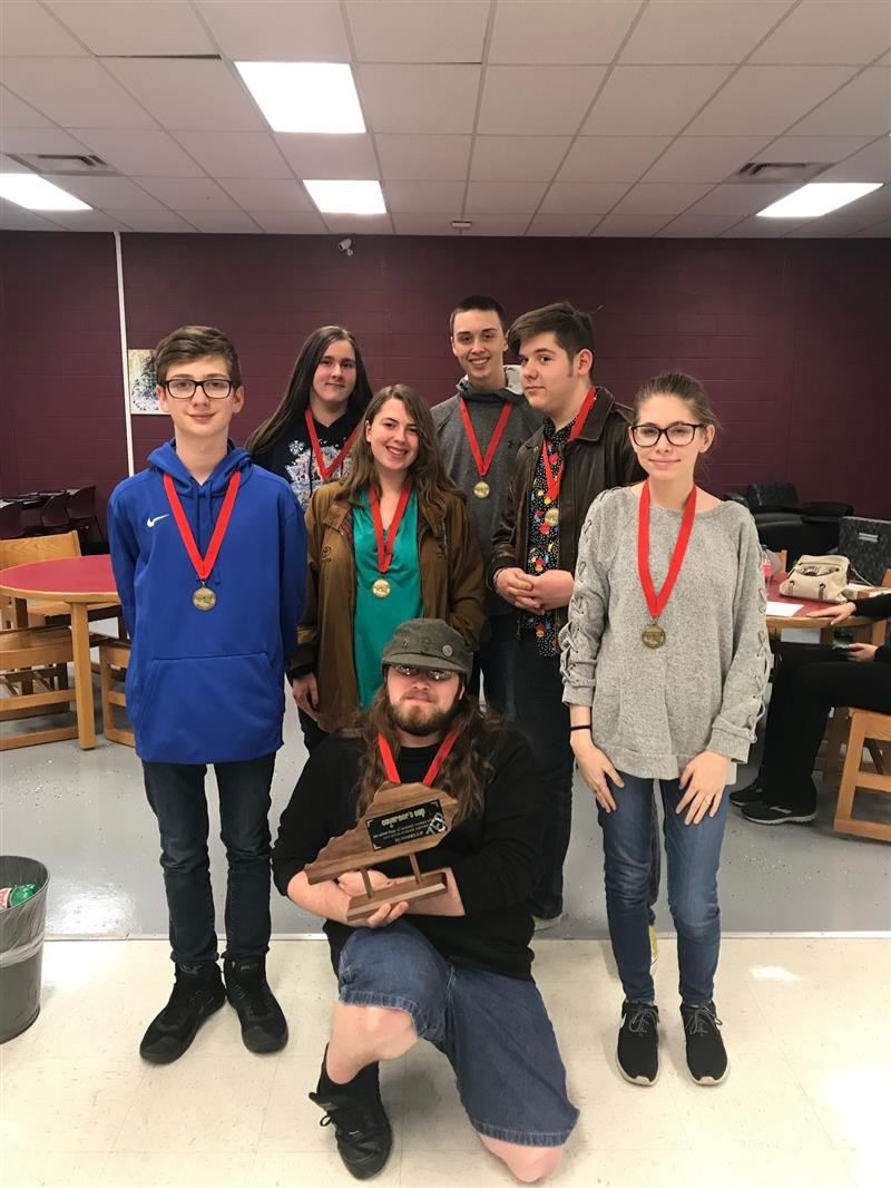 The HCCHS Academic Team set a new school record for Quick Recall.