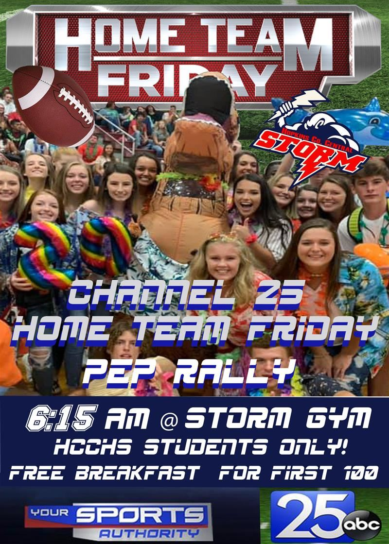 Home Team Friday Pep Rally