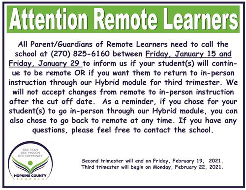 Remote Learners