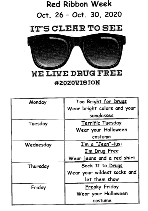 Red Ribbon Week October 26-31