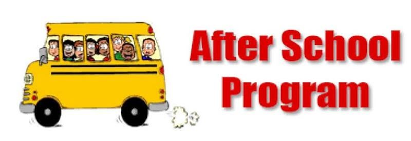 After School Program with art of bus