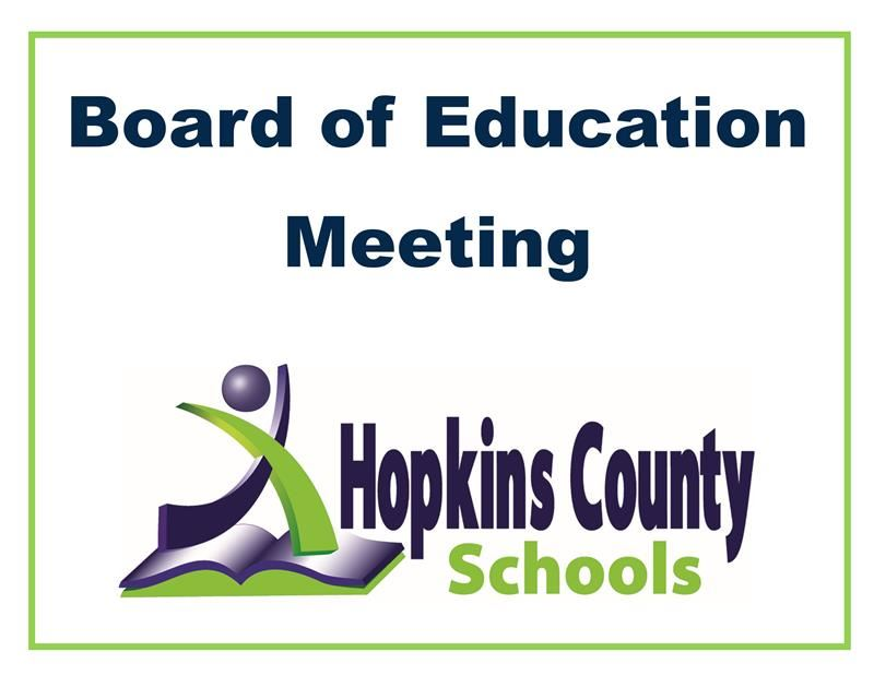 Board of Education Meeting with logo