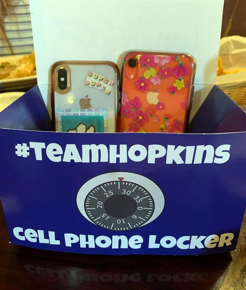 Cell Phone Locker box containing 2 phones