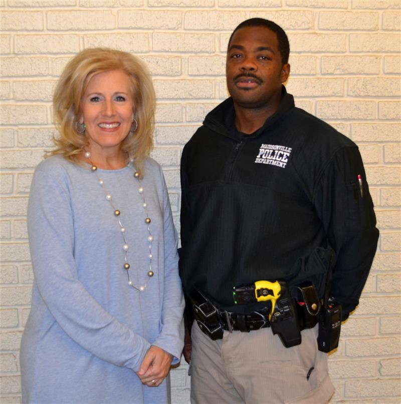 Superintendent Deanna Ashby and SRO Tyrone Gregory