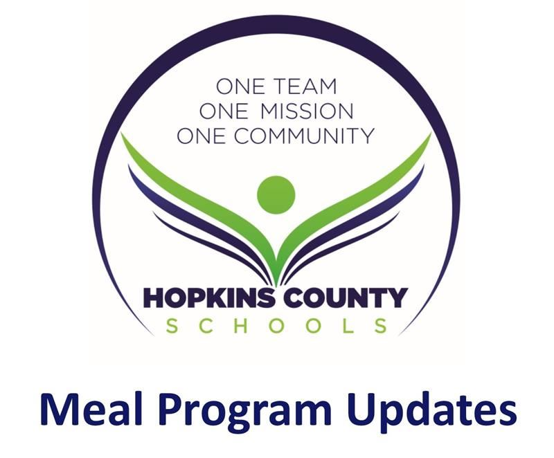 Meal Program Updates with district logo