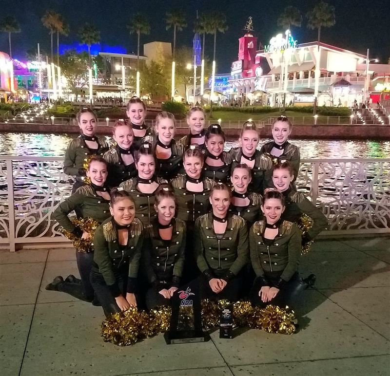 Hopkins County Central dance team at NDA Nationals
