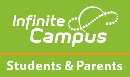 Infinite Campus logo on green background